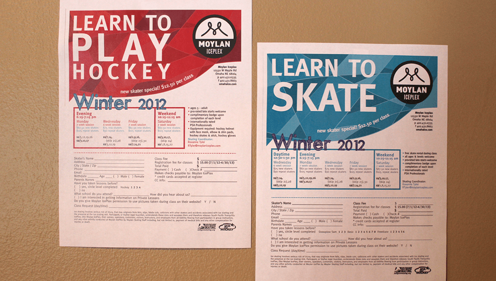 Take a look at these digital printing examples from Moylan IcePlex